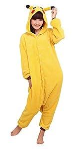 WOWcosplay Unisex-adult Kigurumi Onesie Fire Dragon Pajamas,Pikachu S