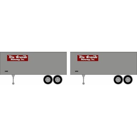 Athearn HO RTR 92488 25' Trailers D&RGW (2) set of two Rio Grande motorway 2006