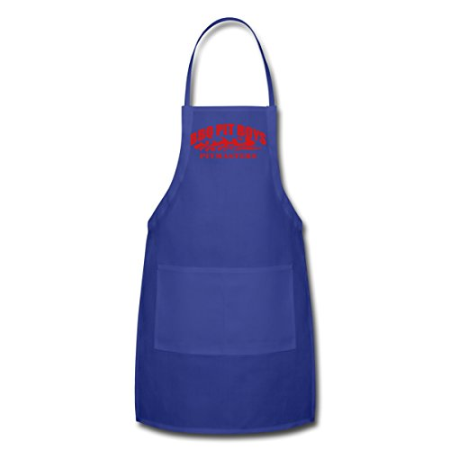 Spreadshirt Unisex Adult Bbq Pit Boys Pitmasters Apron, Royalblue, One Size