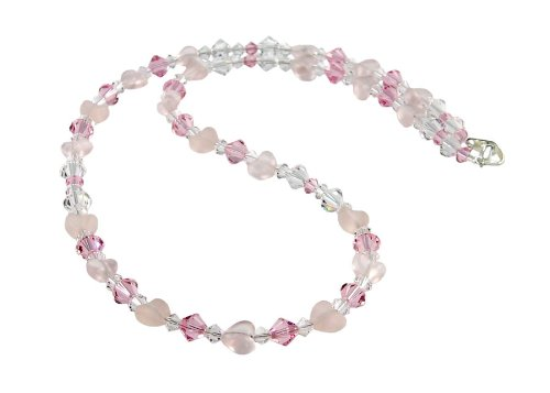 Pink Heart Swarovski Crystal Necklace