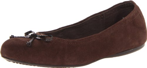 Softwalk Women'S Narina Ballet Flat,Dark Brown,7 M Us