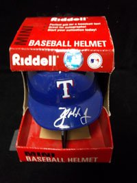 Signed Mayberry, John Jr. (Texas Rangers) Texas Rangers Mini Helmet at Amazon.com