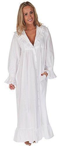 The 1 for U 100% Cotton Nightgown / Robe With Pockets - Amelia- XXS - XXXL (XL)