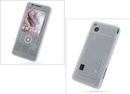 Etui Silicone pour Sony Ericsson G900i - Blanc - PDAIR