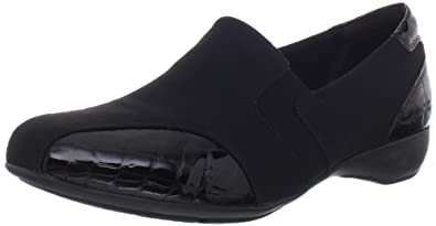 Clarks Women's Noreen Will Loafer,Black Fabric,5 M US