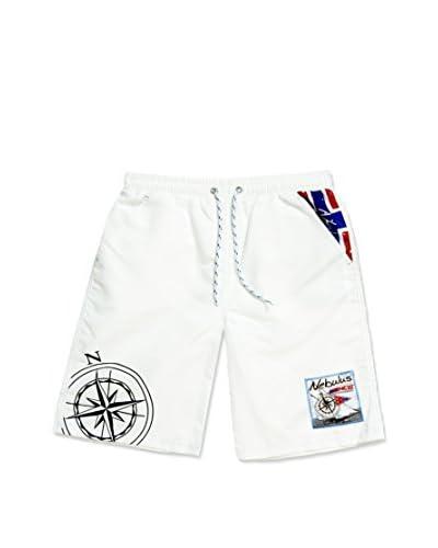 Nebulus Shorts da Bagno Tornio [Bianco]