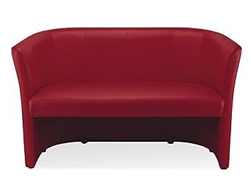 Dreams4Home Schweres Clubsofa 'Sam IIII', 2-Sitzer-Sofa, Sofa, Designsofa, Couch, dunkelrot, (B/H/T) ca.129 x 77 x 50 cm
