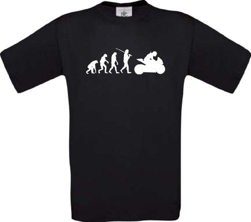 shirtinstyle-t-shirt-evolution-motorrad-sport-fun-spezial-edition-farbe-schwarz-grosse-m