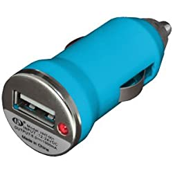 BC 96696 USB Car Charger for Samsung Galaxy S4, Samsung Galaxy S II, Samsung Galaxy SIII, Nokia Lumia 520, Nokia Lumia 720 (Light Blue)
