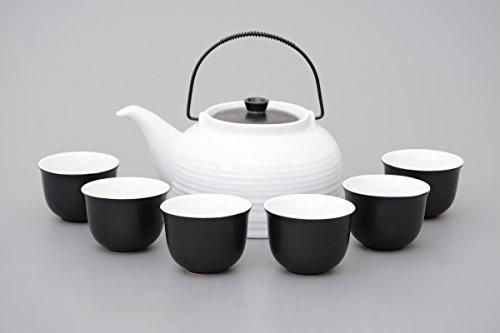 aricola-service-a-the-nelly-7-pieces-avec-tamis-en-acier-theiere-couvercle-blanc-noir-original-arico