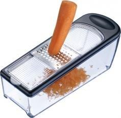 Reibenset für Gemüse, Obst, Käse etc. Edelstahl mit 4 Reiben und praktischem Auffangbehälter (spülmaschinengeeignet)