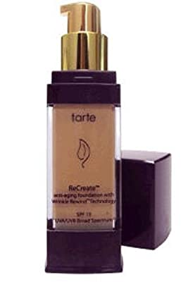 Tarte Recreate Anti-aging Foundation with Wrinkle Rewind Technology Spf 15 1 Fl Oz (29.5 Ml) in Warm Bisque 06