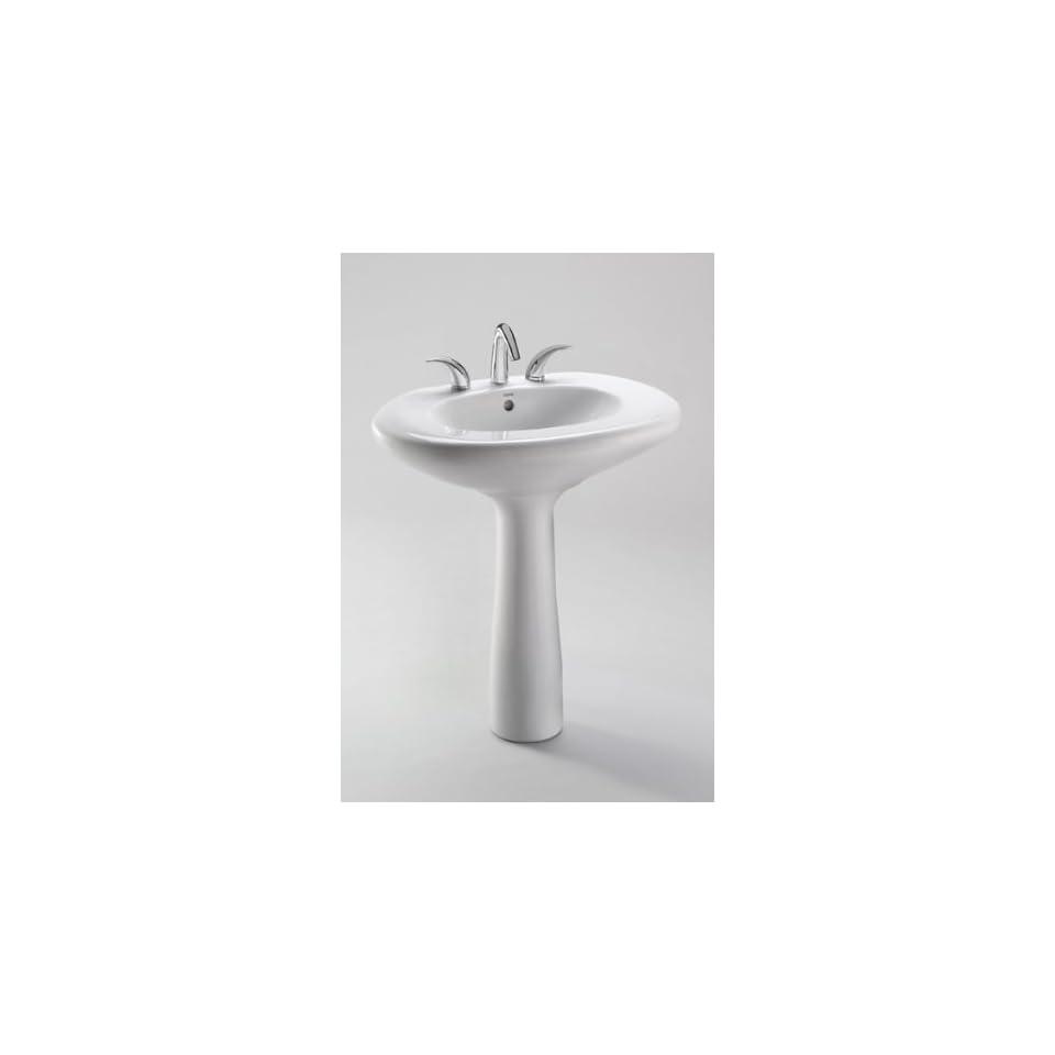 Toto LPT660.4G 01 Ethos Design L Pedestal Lavatory with SanaGloss, Cotton