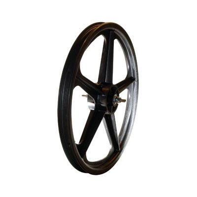 Skyway Tuff II 5 Spoke Mag 3/8″ Nutted 20″ x 1.75″ Freewheel Black Wheel Set