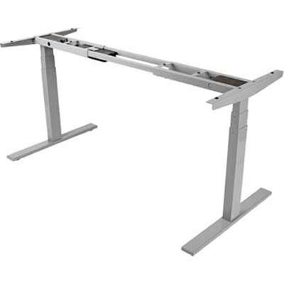 Tripp Lite WWBASE-GY Sit Stand Electric Desk Base Height Adjustable Standing Desk - Gray