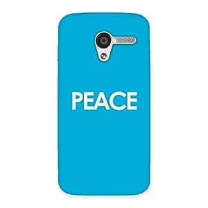 Premium Peace Blue Back Case Cover for Moto X