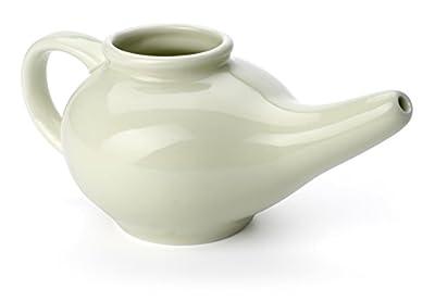 Aromatic Salt Premium Ceramic Neti Pot, Green