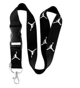Black Jordan Lanyard Keychain Holder
