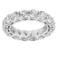 5.00 Ct Round Cut Diamond Eternity Wedding Band Ring14kt by AFK Diamonds