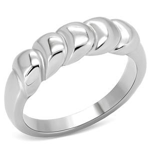 RIGHT HAND RING - Rope Style Ring in High Polished Stainless Steel