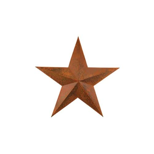 Dimensional Primitive Rustic Steel Metal Barn Star Hanger 12-inch Rust