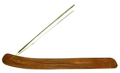 50 velas aromáticas de flor de loto de incienso con madera de fresno con filo plano con bandeja recogemigas soporte para incienso de madera