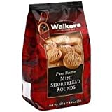 Walkers Shortbread Shortbread, Mini Rounds, 4.4-Ounce Bags (Pack of 6)