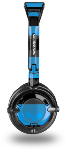 Skullcandy Lowrider Headphone Decal Style Skin - Skull Stripes Blue - (Headphones Not Included)