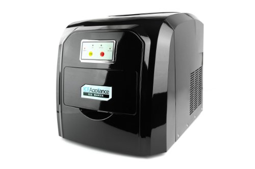 Ice Appliance Compact Ice Maker in Piano Black- ZB09PB
