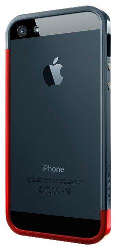 国内正規代理店品SPIGEN SGP iPhone5 ケース リニア EX スリム メタルシリーズ [メタル・レッド] SGP10084
