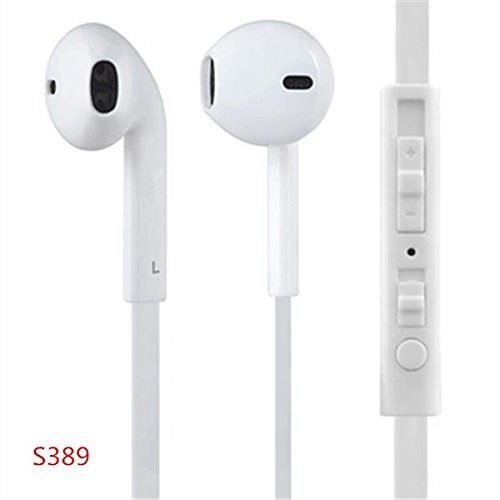 Gvkar(Tm)New Earphone In-Ear Headphone With Microphone & Volume Control Earphones Earbuds Earpods 3.5Mm With Remote And Mic For The Ios Devices And Android Devices - Compatible With Apple Iphone 5S 5C 5 4S 4 3 Ipad Air Mini2 Mini 4 3 2 Ipod Touch 5Th Ipod