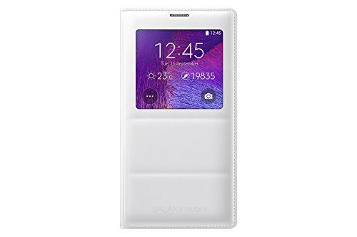 Samsung Galaxy Note 4 Case, S View Flip Cover Folio Case - White