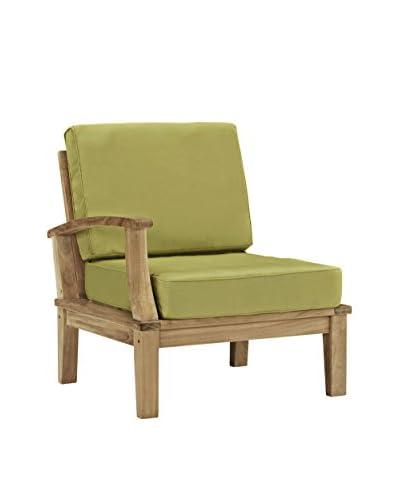 Modway Marina Outdoor Patio Teak Right-Arm Sofa, Natural Peridot