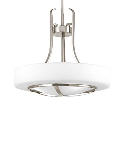 Progress Lighting Torque 1-Light Pendant, Brushed Nickel