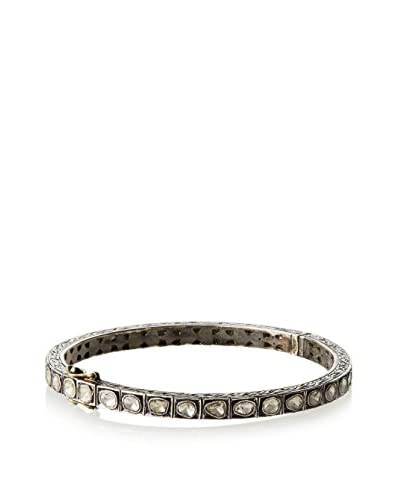 Samira 13 4.5mm Rose-Cut Diamond and Sterling Silver Bangle As You See