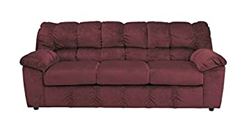 Sofa in Burgundy Fabric