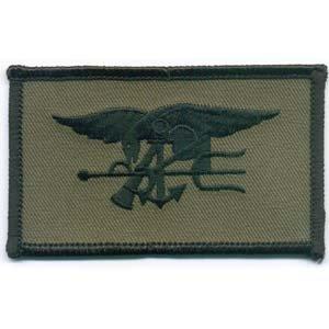 Olive Drab Subdued Us Navy Seals Patch W/ Emblem