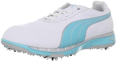 PUMA Women's Faas Trac WNS Golf Shoe,White/Capri,6 M US