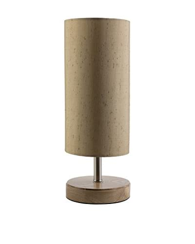 Surya Denton Table Lamp, Natural Wood