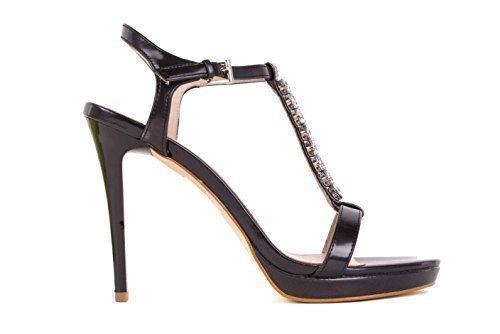 Versace Donna Alte Tacchi Strappy Sandali Nero Bs32 - Nero, 40