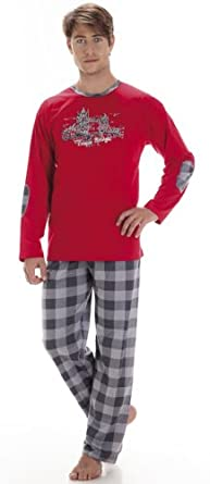 Cornette Hommes Ensemble de Pyjama CR-124-Tower-Bridge2 (Rouge, XL)