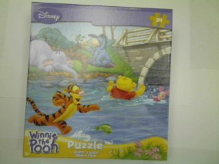 Cheap Fun Disney Winnie the Pooh 24-Piece Jigsaw Puzzle (In the River) (B0039KAXYQ)