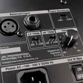 "LF Trim and HF Trim ""TRIM"" switches"