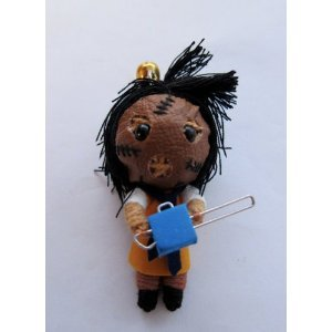Leatherface Texas Chainsaw Massacre Voodoo String Doll Keychain - 1