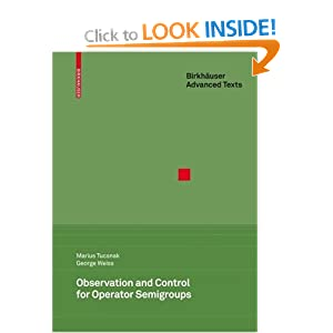 Observation and control for operator semigroups George Weiss, Marius Tucsnak