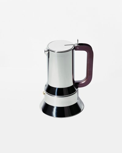 Alessi Espresso Coffee Maker with Magnetic Base, 6 Cups, (9090/6 FM)