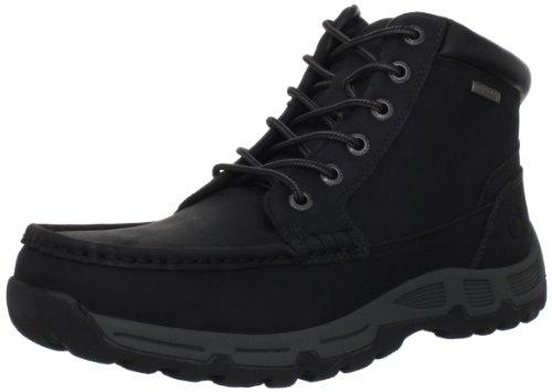 Rockport - Sneaker Heritage Heights Moc Toe Uomo, Nero (Schwarz (Black)), 46.5 EU / 12 UK