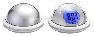 Flying Saucer LCD Digital Spanish Talking Clock Temperture Display Sound Alarm MY-1246