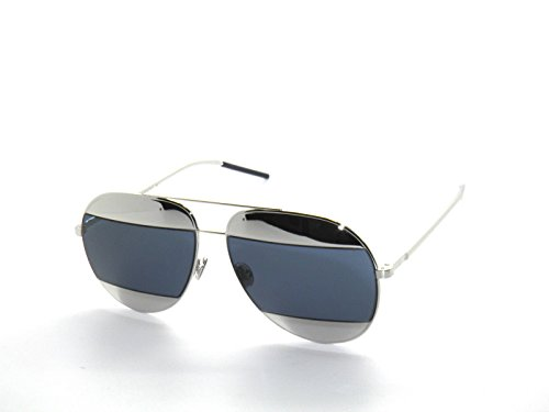 Christian-Dior-Split-1-Silver-with-blue-lenses-color-010-KU-Size-59