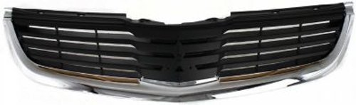 Crash Parts Plus Chrome Shell w/ Black Insert Grille Assembly for 2007-2008 Mitsubishi Galant (2007 Mitsubishi Galant Grille compare prices)